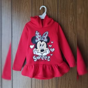 Girl's Disney Red Minnie Mouse Hoodie